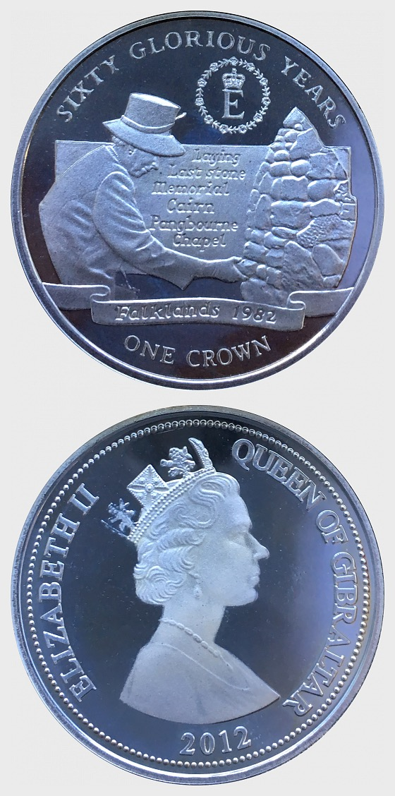 60 Glorious Years Coin 4 - Falklands 1982 - Commemorative