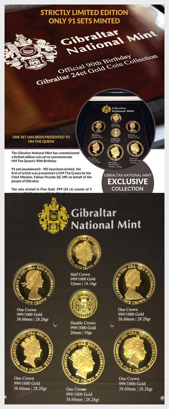 Official 90th birthday 24ct coin set - Gold Coin