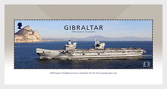 HMS Queen Elizabeth - Mint - Miniature Sheet