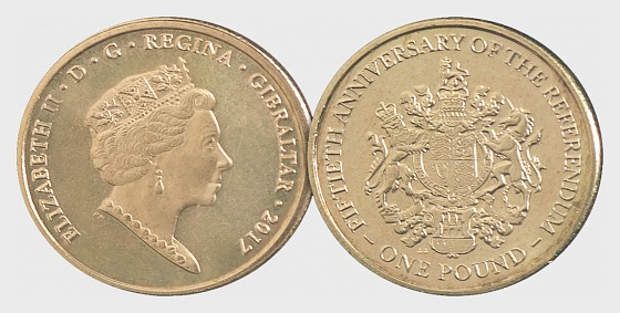 £1 Coin - Referendum 50th Ann - Single Coin