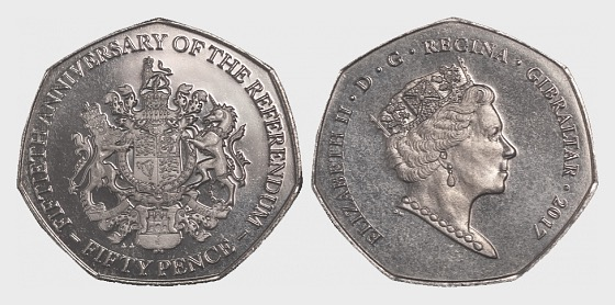 50p Coin - Referendum 50th Ann - Commemorative