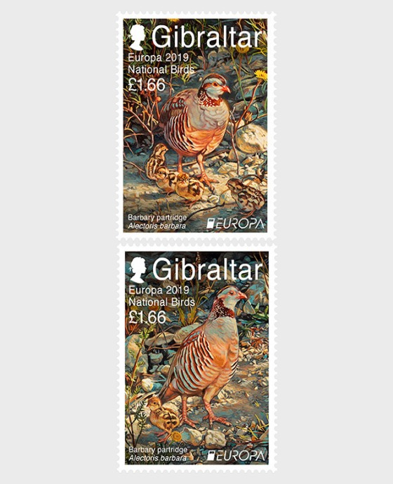 Europa 2019 - National Birds - Mint - Set