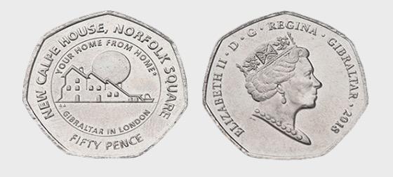 50p Calpe House Coin - Commemorative