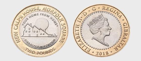 £2 Calpe House münze - Gedenk