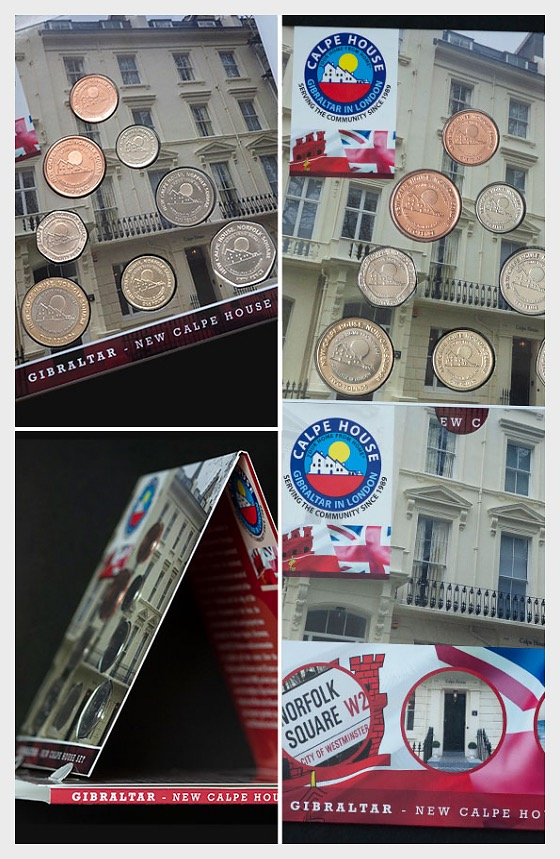 Gibraltar Currency Year Collection - Calpe House - Coin Year Set