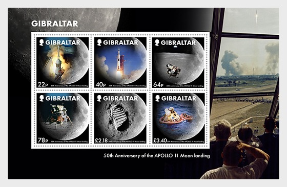 Moon Landings 50th Anniversary - M/S Mint - Miniature Sheet
