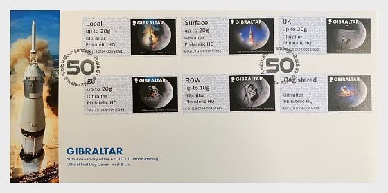 Post & Go Moon Landings - First Day Cover