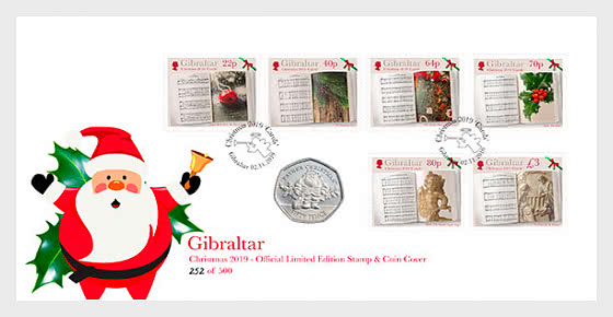 SOLD OUT - PRE-ORDER Christmas 2019 Stamps & Coins Cover - Münz-Karte