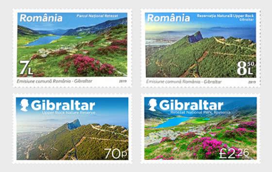 Gibilterra - Emissione Congiunta Romania - Serie