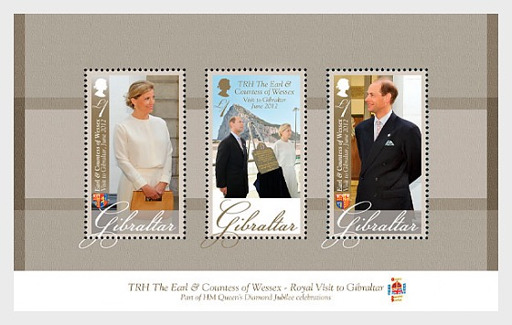 Royal Visit of TRH The Earl & Countes - Miniature Sheet
