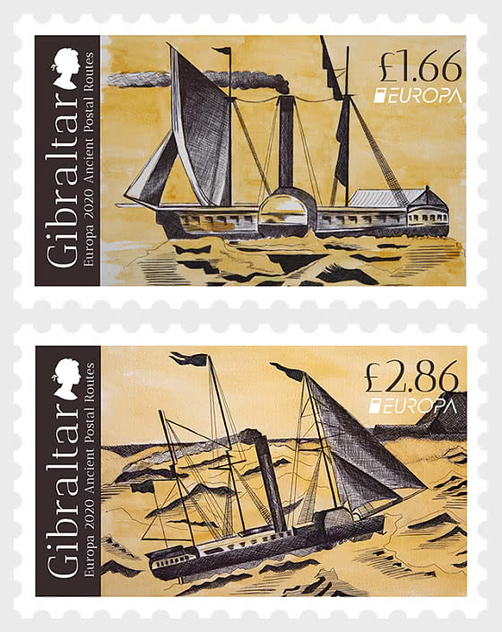 Europa 2020 - Ancient Postal Routes -  Set Mint - Set