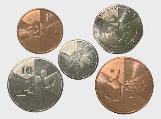 Island Games Low Value Coin Set - Commemorative