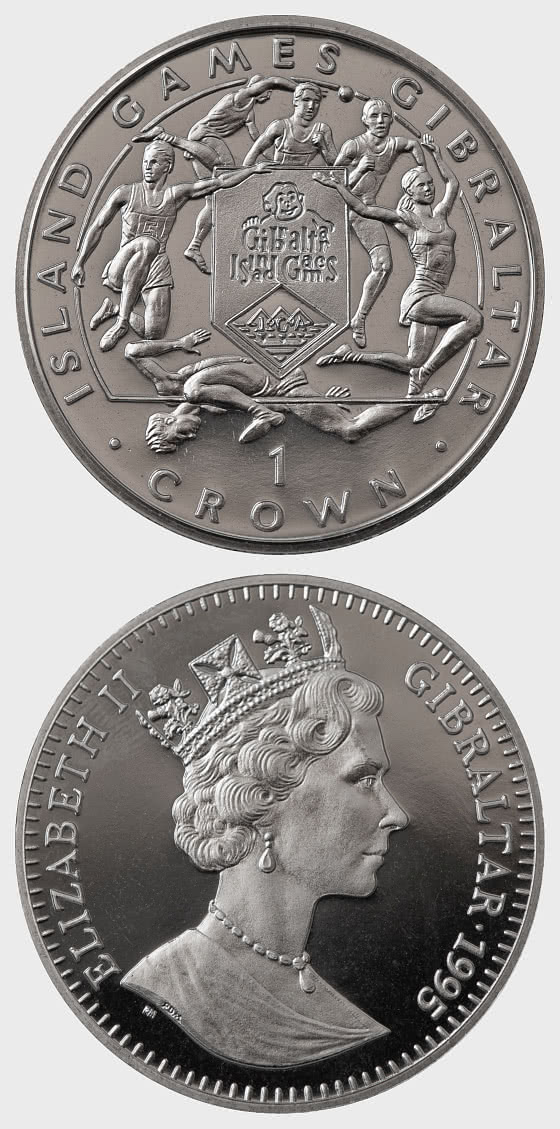 1995 Island Games One Crown - 6 Sports - Commemorative