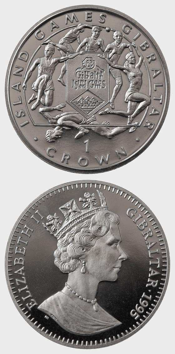 1995 Island Games One Crown - 6 Sportarten - Gedenk