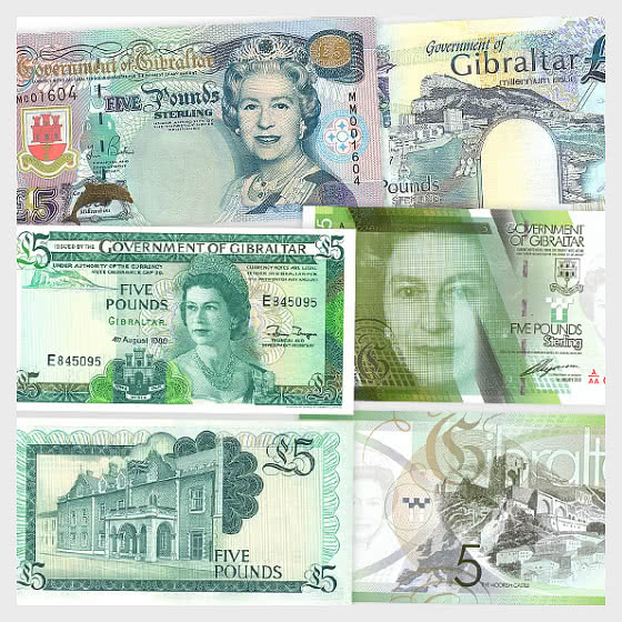 Special Offer: Gibraltar £5 Banknotes bundle with 20% Discount. YOU SAVE £7.50 - Banknote