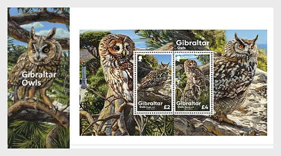 PRE-ORDER Gibraltar Owls - Pack Miniature Sheet