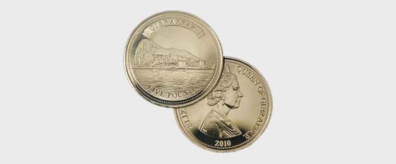 £5 Gibraltar coin - Single Coin