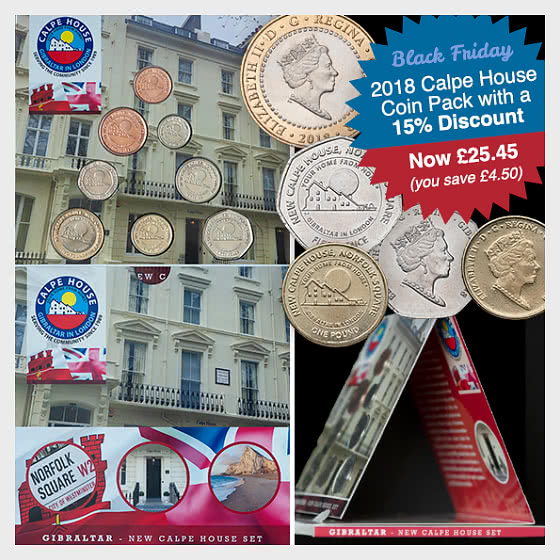15% Discount: 2018 Calpe House Coin Pack SAVE £4.50! - Coin Year Set
