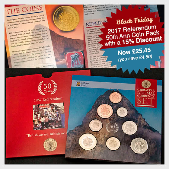15% Discount: 2017 Referendum 50th Anniversary Coin Pack SAVE £4.50 - Coin Year Set