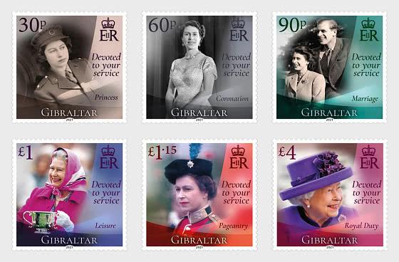 HM伊丽莎白女王二世诞辰95周年 - 套票