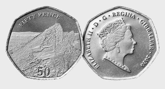 Gibraltar 2020 50p Skywalk Coin - Single Coin