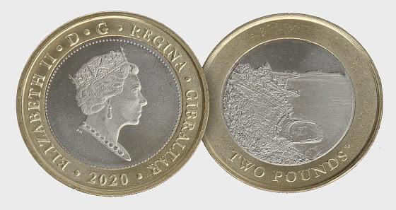 Gibraltar 2020 £2 Sandy Bay Coin - Einzelne Münze