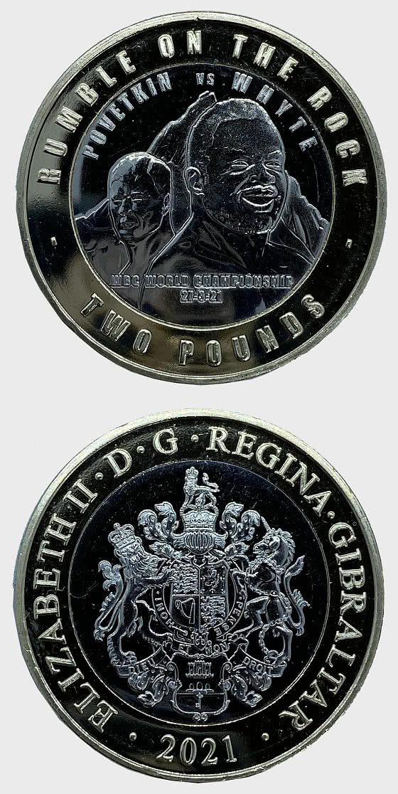 PRE - ORDER Rumble on the Rock WBC £2 Coin - Single Coin