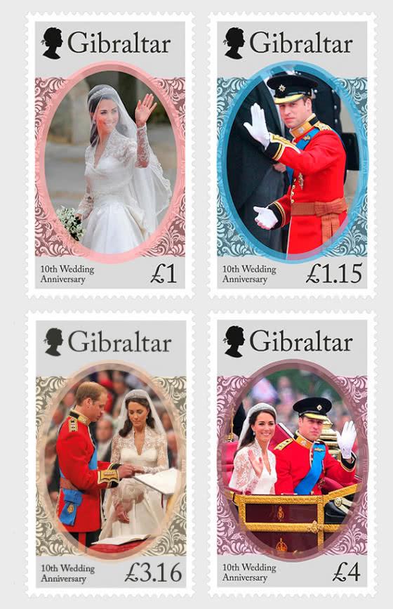 The Duke & Duchess of Cambridge 10th Wedding Anniversary - Set