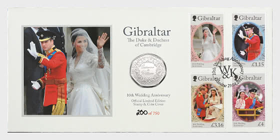 Limited Edition Catherine & William Stamp & Coin Cover - Commemorative