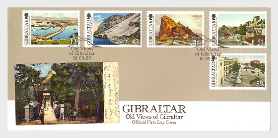 old views of gibraltar first day cover