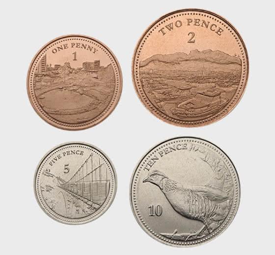 Gibraltar 2020 Low Value Coins - Single Coin