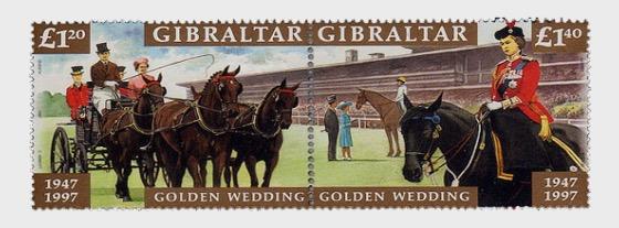 HM QE II Golden Wedding anniversary  - Set