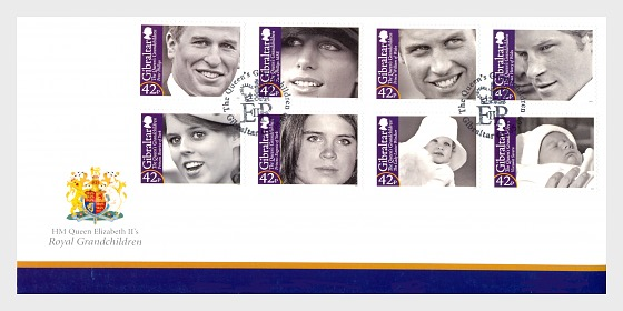 HM Queen Elizabeth II's Royal Grandchildren - First Day Cover