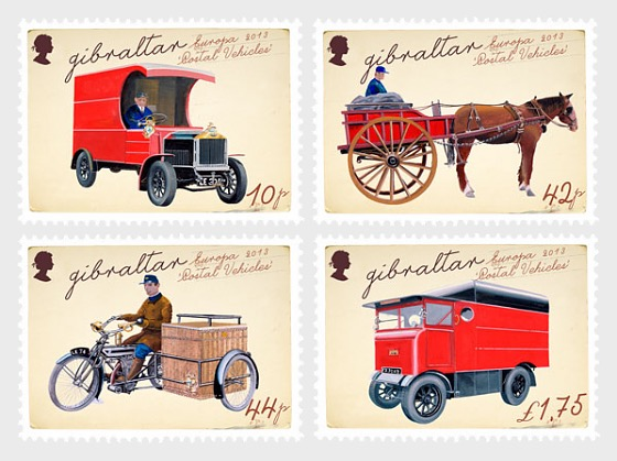 Europa 2013 'Postal Vehicles' - Mint - Set