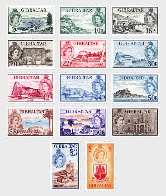 60 Years 1st Stamp Definitive Of QE II 1953 - Mint - Set