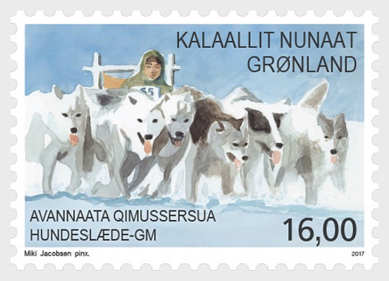 Sports in Greenland II 1/3 National dogsled championships - Set