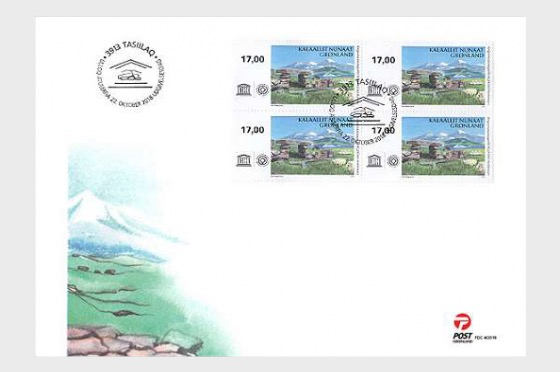 UNESCO World Heritage - FDC Block of 4 - First Day Cover block of 4