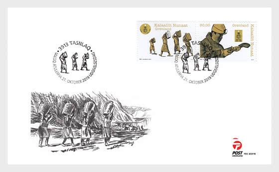 Etiquettes de Sacs de Charbon au Groenland - Enveloppes de Premier Jour