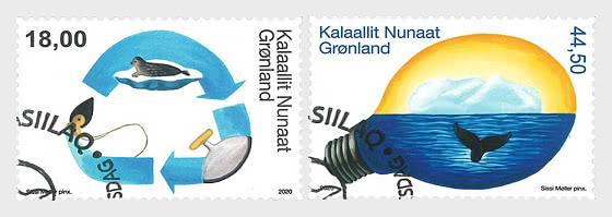 格陵兰岛的环境IV - 套票 CTO