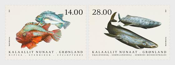 鱼在格陵兰岛IV - 套票