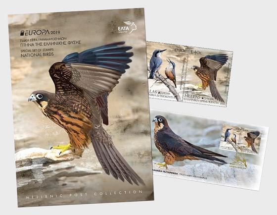 Europa 2019 - National Birds - Special Folder