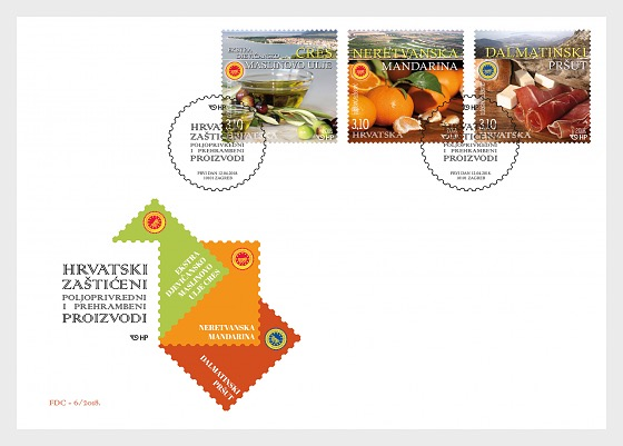 Protected Croatian Agricultural and Food Products - First Day Cover