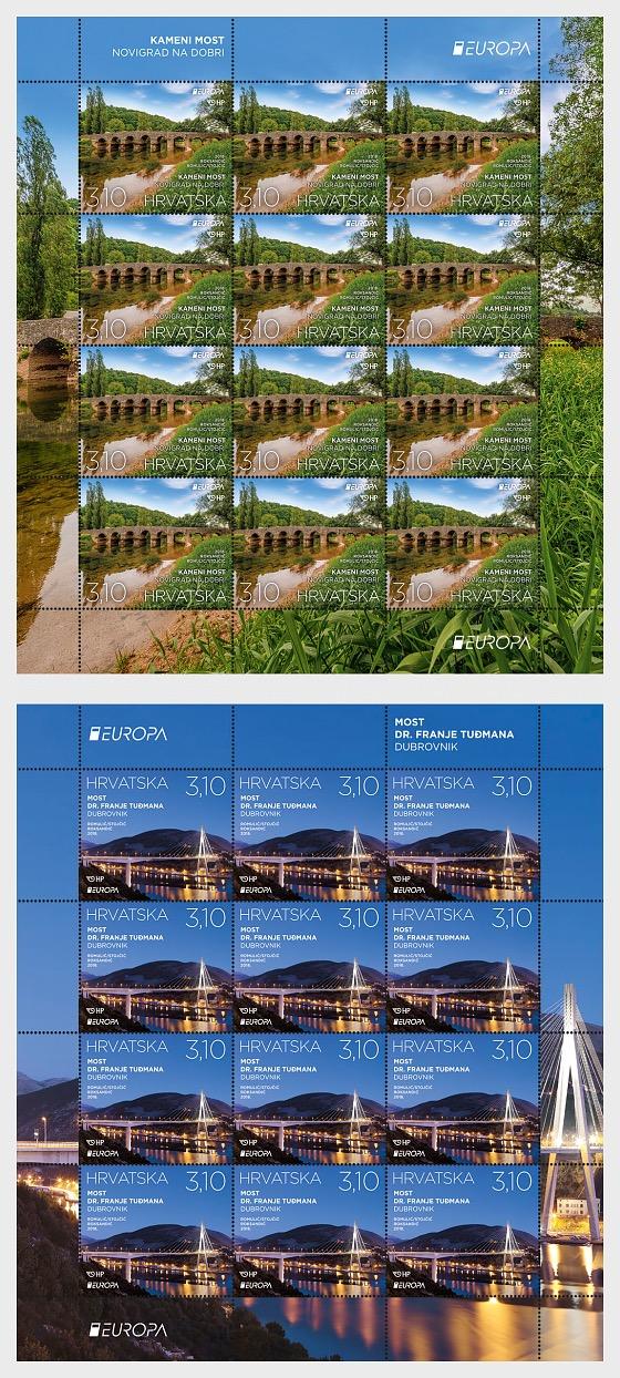 Europa 2018 - Bridges - Full sheets
