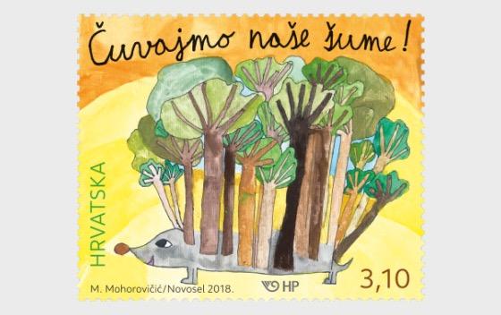 Sello para niños: Protejamos nuestros bosques - Series