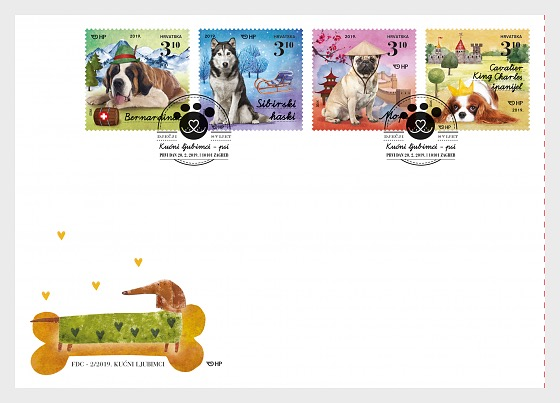 Children's World - Pets, Dogs II - First Day Cover