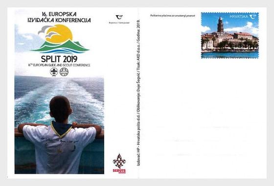 Postal - 16a Conferencia de Guías y Exploradores en Split 2019 - Postales