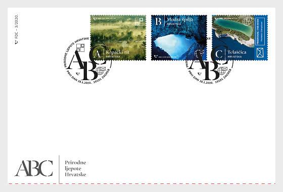 Naturwunder der Republik Kroatien (endgültig) - Ersttagbriefe