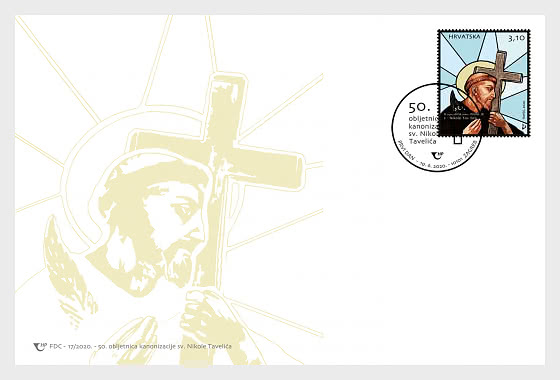 50th Anniversary Of The Canonization Of St. Nicholas (Nikola) Tavelic - First Day Cover
