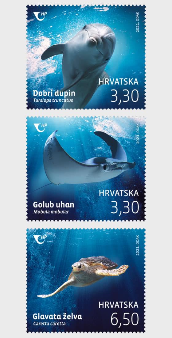 克罗地亚动物区系2021年 - 套票