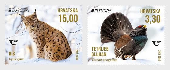 Europa 2021 - Endangered National Wildlife - Set